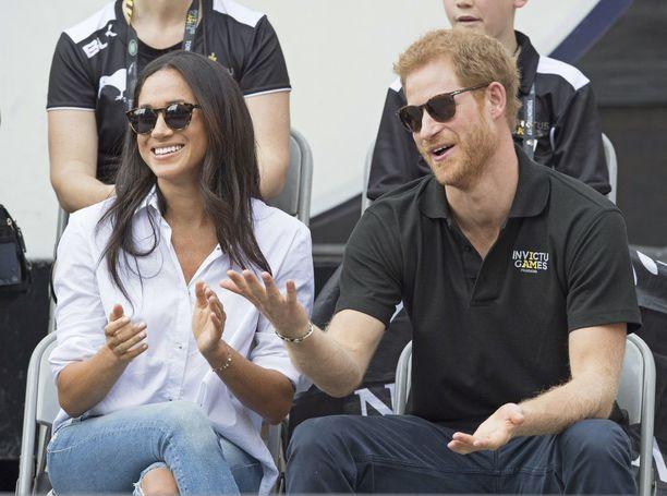 Meghan Markle ja prinssi Harry nähtiin syyskuussa tenniskatsomossa Torontossa.