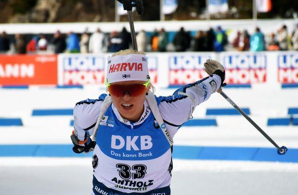 Mari Eder oli 68:s MM-kisojen pikakilpailussa perjantaina Italiassa.