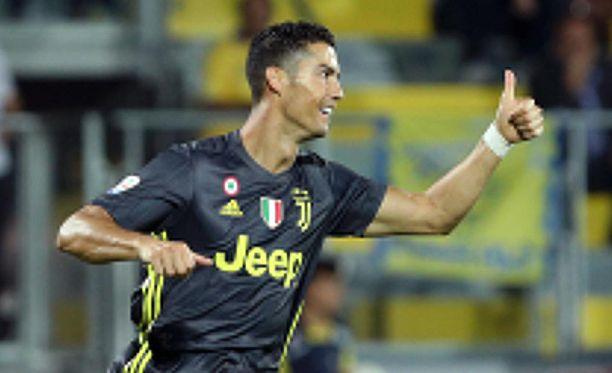 Cristiano Ronaldo laukoi Juventuksen voittomaalin.