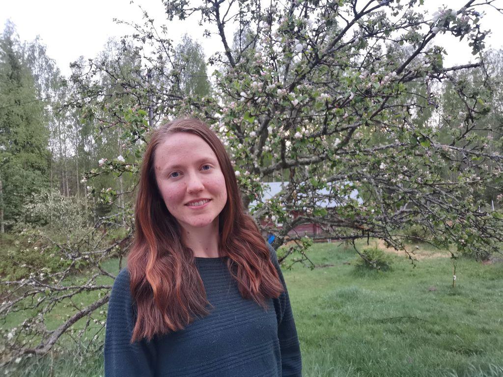 Annemari Syrjäläinen, 26, muutti viisi vuotta sitten Helsingistä Kangasniemelle.