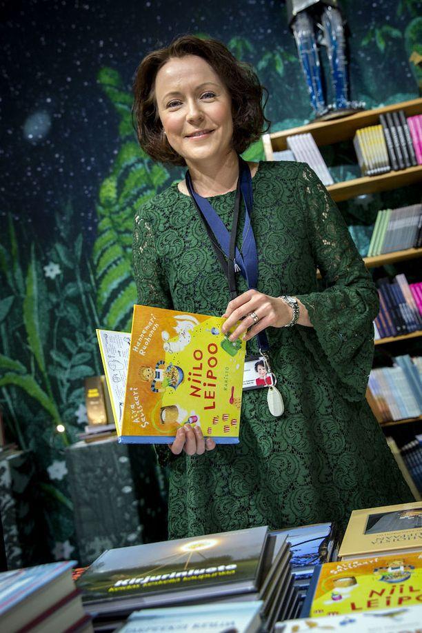 Jenni on toiminut Turun Kirjamessujen ohjelmapäällikkönä neljä vuotta. Kuva viime syksyltä.