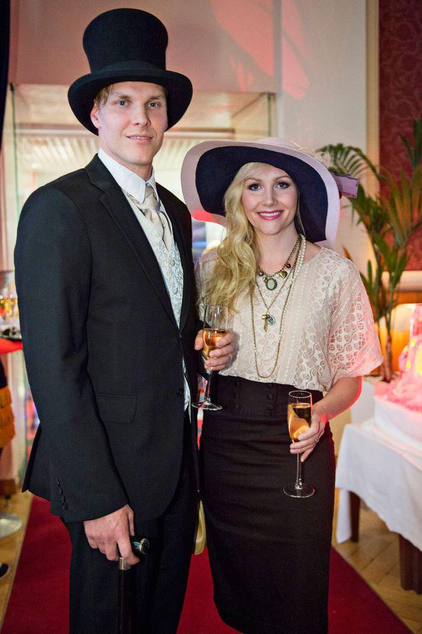 Kuvassa Timo ja Emma syyskuussa 2015 Casino Helsingin syyskauden lanseerauksessa.