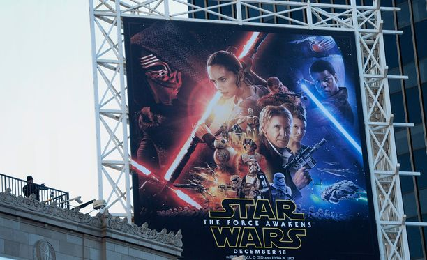 Star Wars: The Force Awakens -mainosjuliste Hollywoodissa.