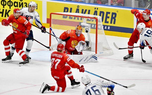 Andrei Vasilevski on ollut Venäjän maalinsuulla vakuuttava.