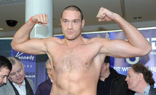 Tyson Fury kuvattuna ottelukunnossa.