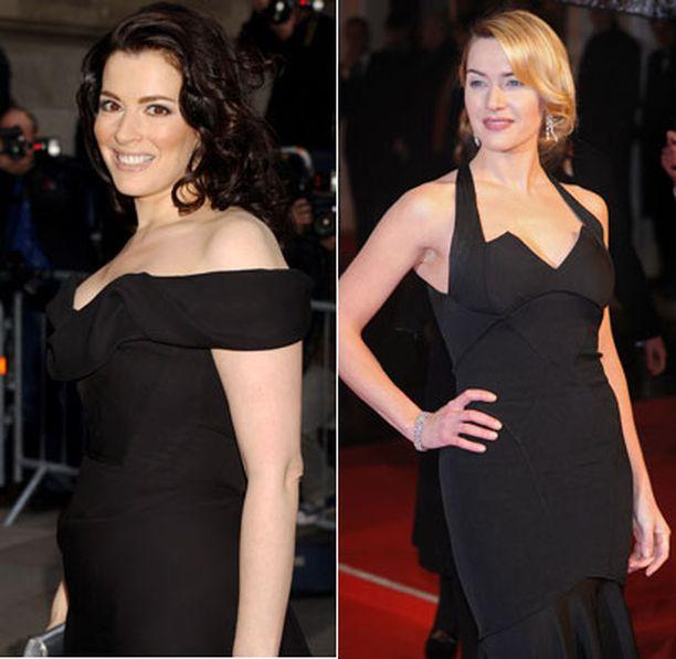 Nigella Lawson ja Kate Winslet edustivat naisten ihailemaa vartalotyyppiä.