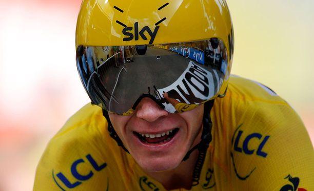 Chris Froome on voittamassa Ranskan ympäriajon.