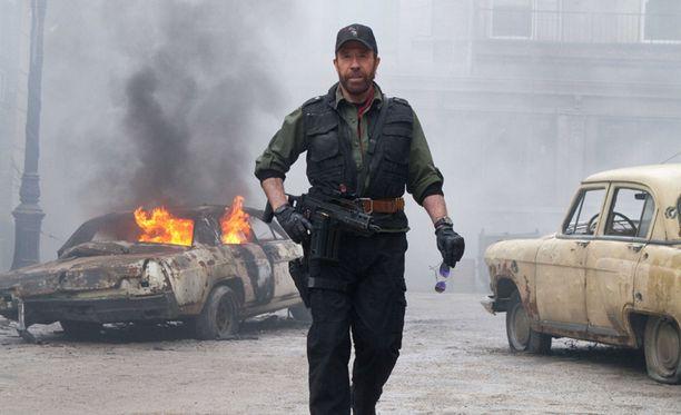 73-vuotias Chuck Norris on näytellyt useissa toimintaelokuvissa.