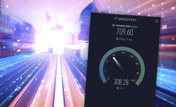 Nettiyhteyden nopeuden voi selvittää yksinkertaisella testillä.