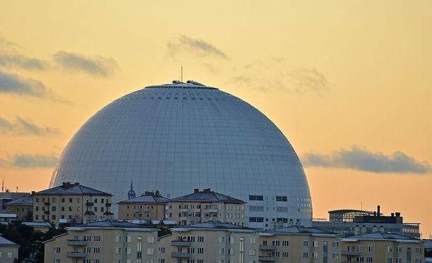 Globenin katolta avautuu melkoinen näkymä Tukholman ylle.