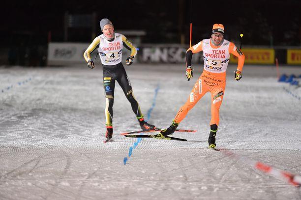 Ristomatti Hakola voitti Iivo Niskasen Suomen cupin viestissä Vantaalla.