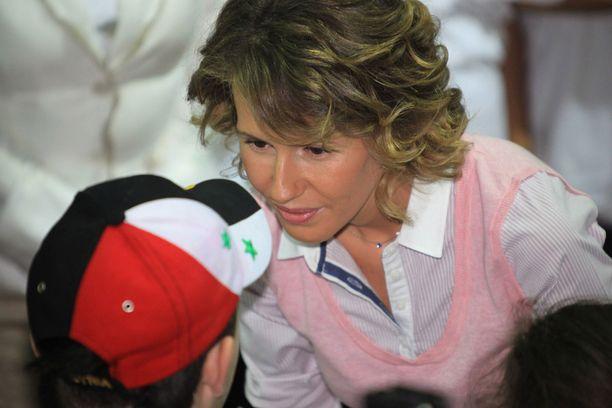 Asma Assad on tukenut miehensä politiikkaa.