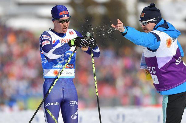 Matti Heikkisen juottohuolto toimi paremmin Seefeldissä.