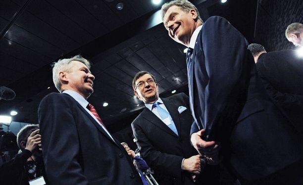 Pekka Haavisto, Paavo Väyrynen ja Sauli Niinistö olivat kaikki ehdolla myös vuoden 2012 vaaleissa.