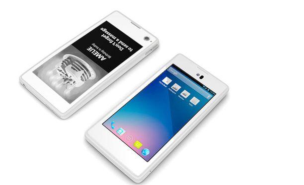 YotaPhonessa on näyttö edessä ja takana.