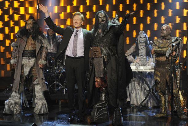 Conan kertoi innostuneensa Lordista parin vuoden takaisella Suomen-vierailullaan.