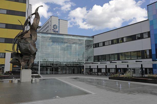 Tampereen yliopistollinen sairaala kuvituskuvassa.