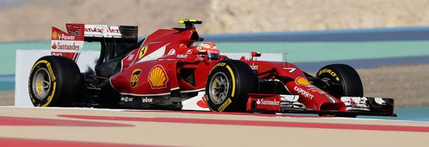Kimi Räikkönen lähtee ruudusta viisi Bahrainin gp:seen.