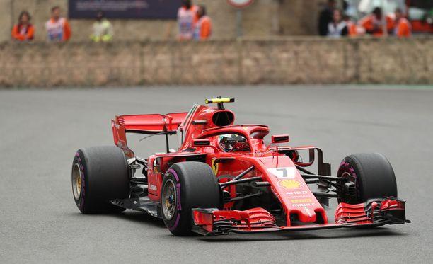 Kimi Räikkönen lähtee kuudennesta ruudusta Azerbaidzhanin GP:hen.