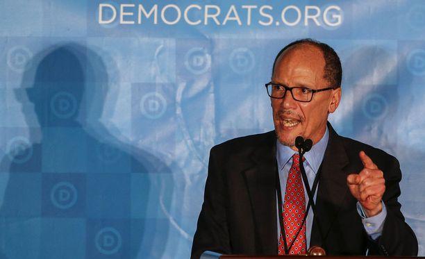 Perez puhui linjauksistaan demokraattien puoluekokouksessa.
