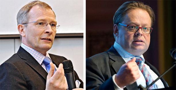 Kokoomuksen uusi ehdokas ei ole Risto E.J. Penttilä (vas.), vaan Juhana Vartiainen.