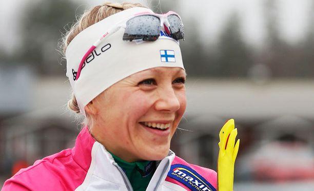 Kaisa Mäkäräinen tienasi 33 000 euroa Östersundin kisoista.