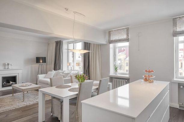 Kaksiossa on tilaa 85,5 neliötä ja se on myynnissä 667 000 euron hintaan.