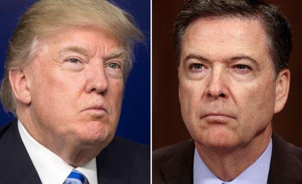 Trump passitti Comeyn (kuvassa oikealla) pois FBI:n johdosta, sillä Comey halusi selvittää presidentin ja hänen tiiminsä Venäjä-kytkösten laadun.