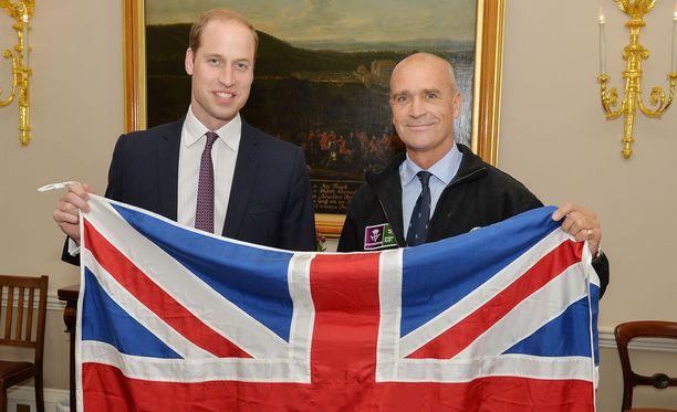 Prinssi William ja Henry Worsley tapasivat lokakuussa 2015.