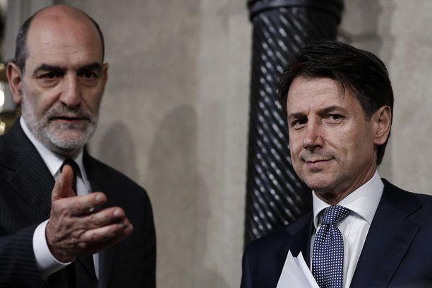 Giuseppe Conte ja Sergio Mattarella.