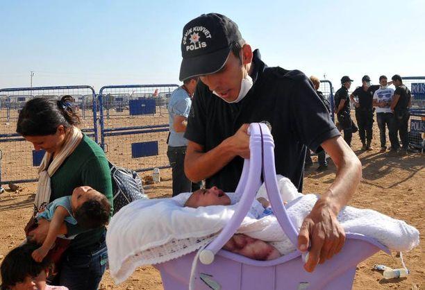 Pakolaiset ovat pääasiassa naisia ja lapsia.