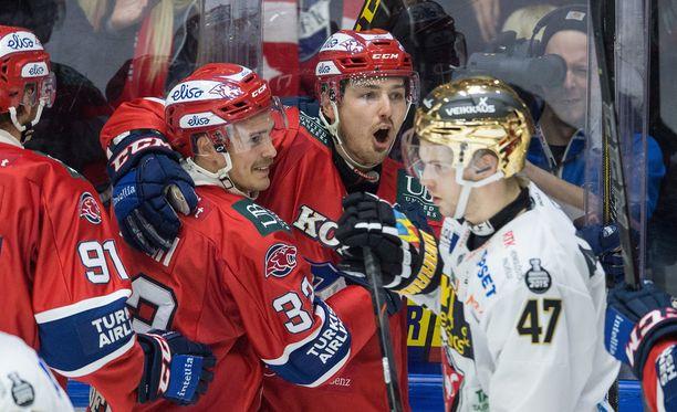 Tomas Zaborsky ja HIFK juhlivat.