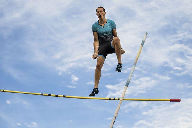 Renaud Lavillenie on olympiavoittaja ja maailmanennätysmies.