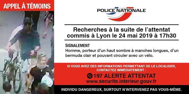 Ranskan poliisi julkaisi kuvan Lyonin pommi-iskun epäillystä.