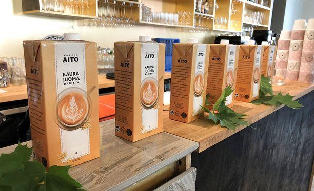 Kaurajuoma Barista on kehitetty kahvijuomia varten.