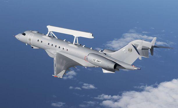Ruotsalainen Saab iloitsee uuden GlobalEye -valvontalentokoneen onnistuneesta ensilennosta. Vajaan parin tunnin mittainen ensilento toteutettiin keskiviikkona.