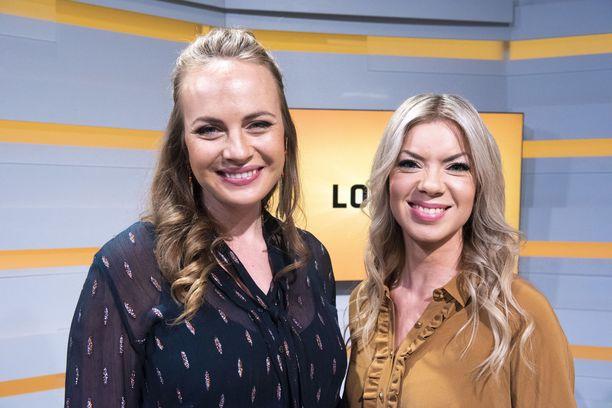 Netta Laurenne ja Miia Kekkonen ovat tunnettuja lottojuontajia.