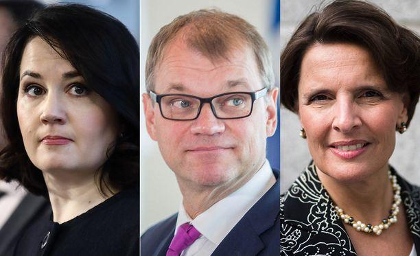 Hallituksen inhokkiministerit ovat tällä hetkellä Sanni Grahn-Laasonen, Juha Sipilä ja Anne Berner.