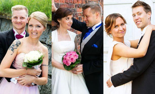 Olli ja Miia, Pia ja Jussi sekä Viola ja Esa menivät naimisiin ensitreffeillä.