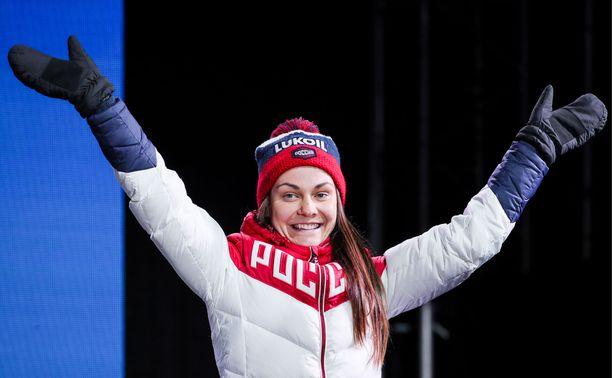 Anastasia Sedova voitti viime kaudella Seefeldin MM-kisoissa viestipronssia Venäjän joukkueessa.