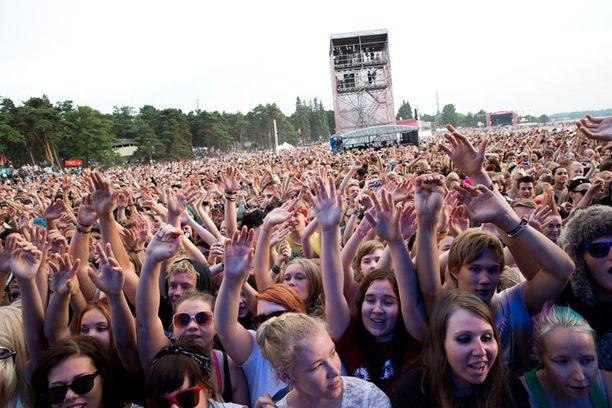 Green Day esiintyi keskiviikkona Helsingin Hietaniemessä.