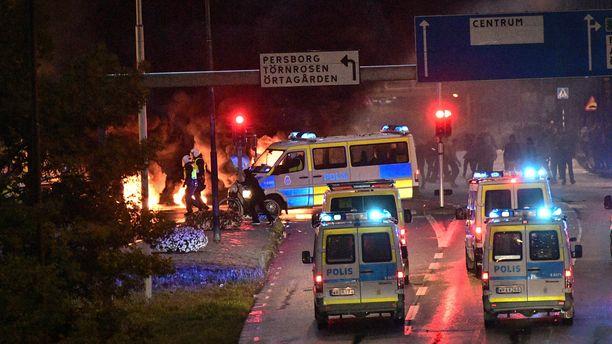 Malmön mielenosoitukset ovat saaneet väkivaltaisia käänteitä.