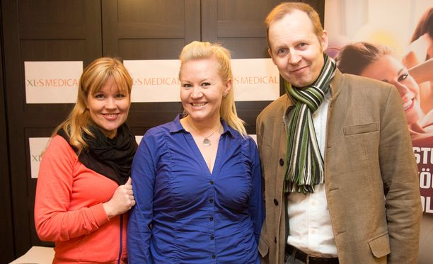 Personal trainer Piia Koriseva ja psykologi Mikael Saarinen kuuluvat Lotan tukijoukkoihin.