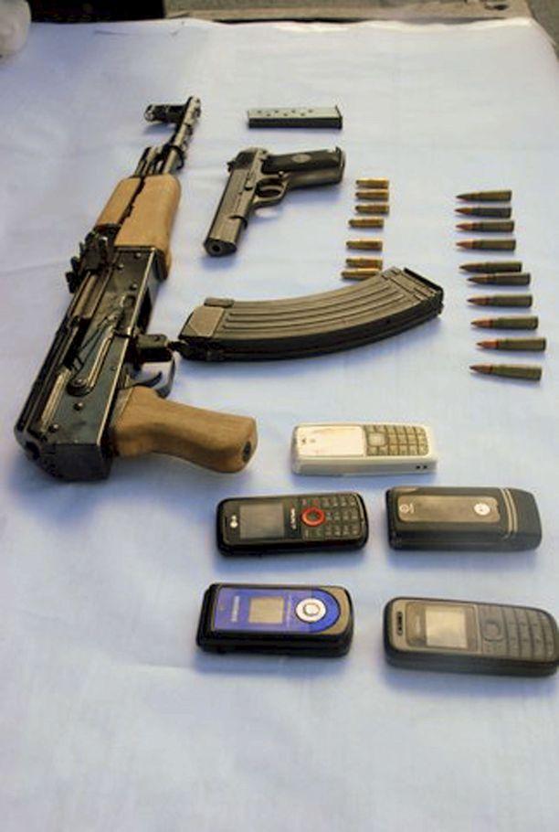 Nämä tavarat takavarikoitiin Sinaloan kartellilta vuonna 2010.