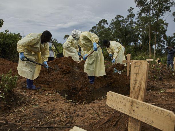 Ebolan uhria haudattiin Benissä, Kongon demokraattisen tasavallan pohjoisosissa, elokuussa 2019.