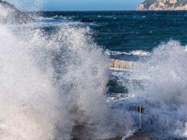 Mallorcalla raivosi myrsky myös joulukuussa.