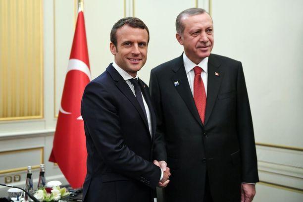 Ranskan presidentti Emmanuel Macron tapasi Turkin presidentti Recep Tayyip Erdoğanin Brysselissä toukokuussa.