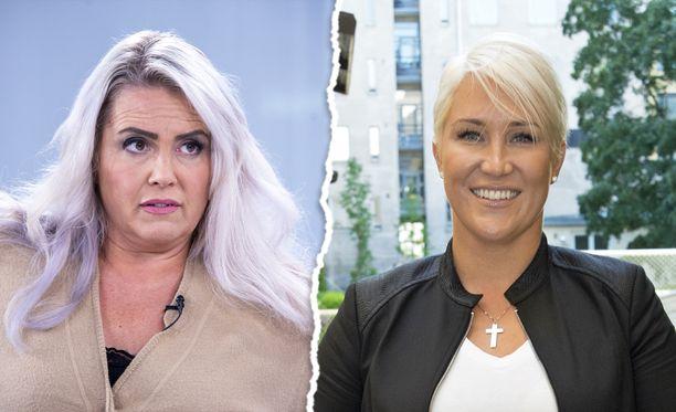 Kiinteistönvälittäjä Mira Kasslin (oik.) arvosteli kollegaansa Kaisa Liskiä kovin sanoin hovioikeudessa.