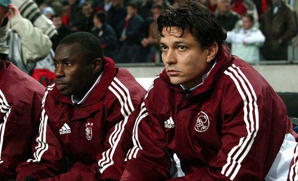 Abubakari Yakubu ja Jari Litmanen pelasivat yhtä aikaa Ajaxissa.
