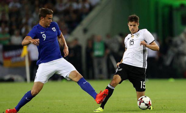 Eero Markkanen sai peliaikaa elokuussa Saksaa vastaan.